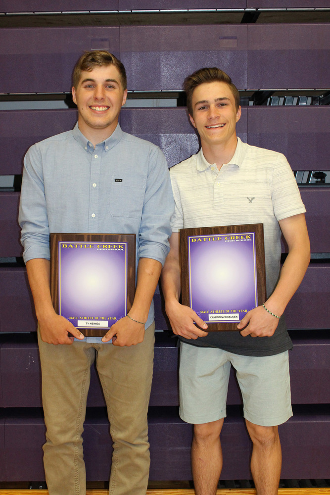 Ty Heimes & Caydon McCracken Named 2019 Male Athletes of Year
