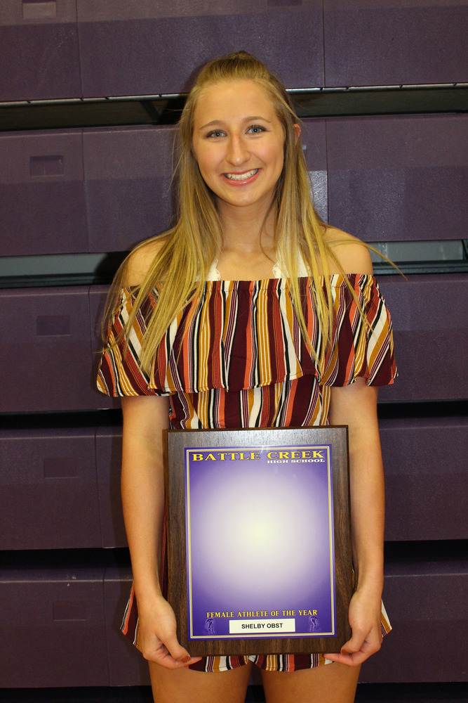 Shelby Obst Named Female Athlete of the Year
