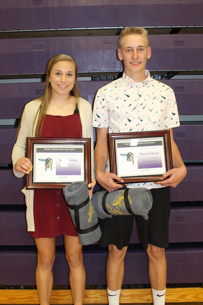 Zohner & Frederick Named Most Improved Athletes of the Year