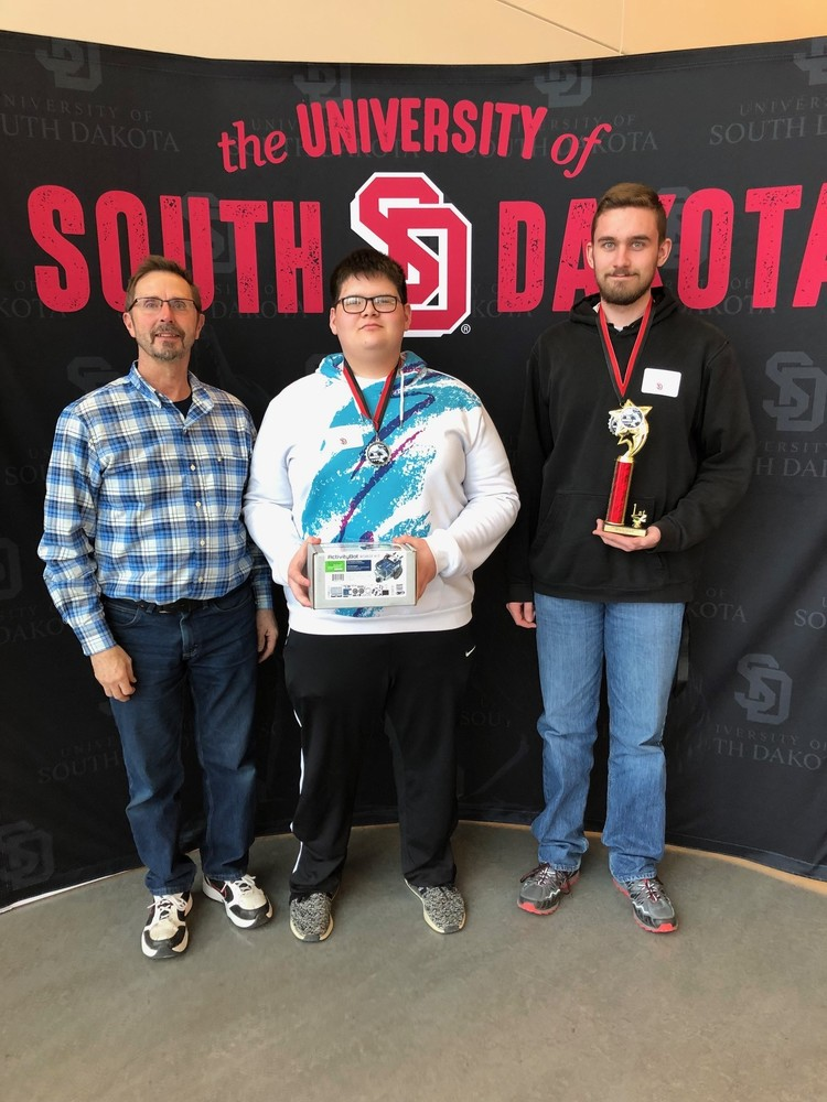 Lodge and Eickhoff Win USD Robotics Competition