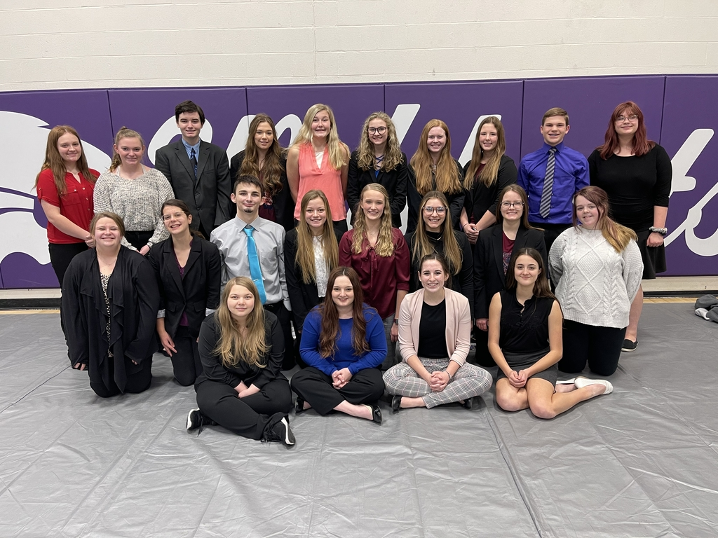 Competitors at Hartington Speech Meet