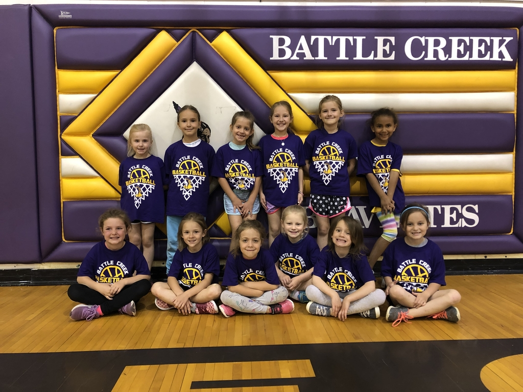 Awesome job at basketball camp girls💜🏀