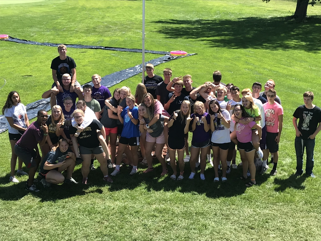 Class of 2020 having some fun at Senior Blaze Day.