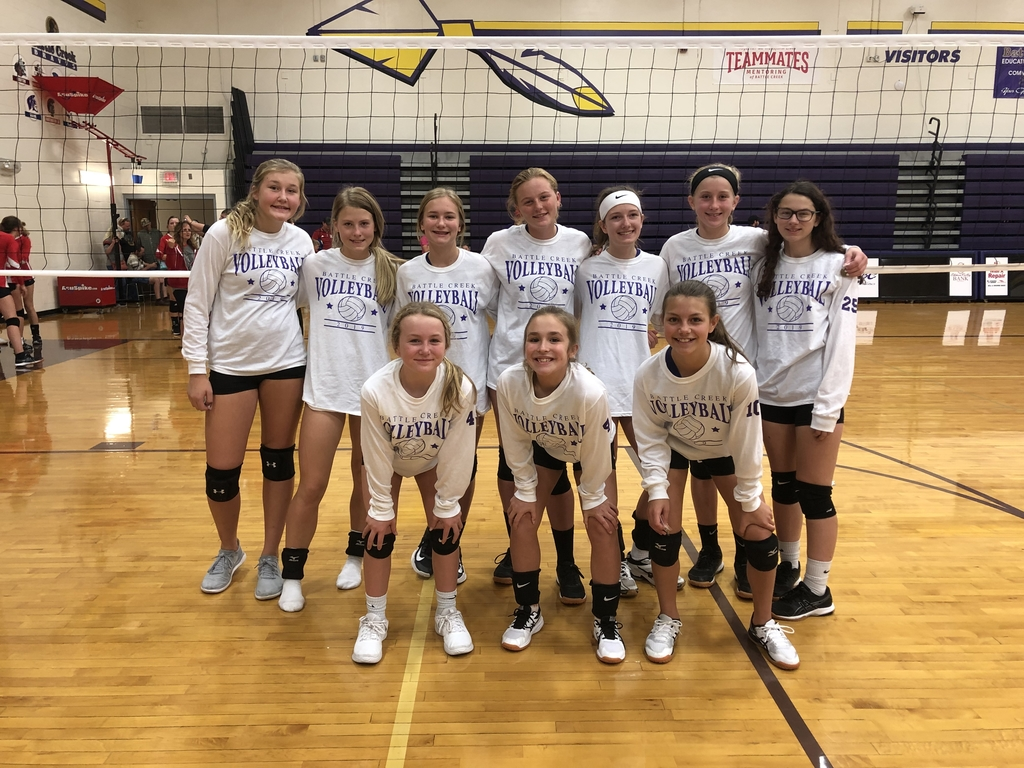 Great competition at the Battle Creek JH tournament 🏐#champs