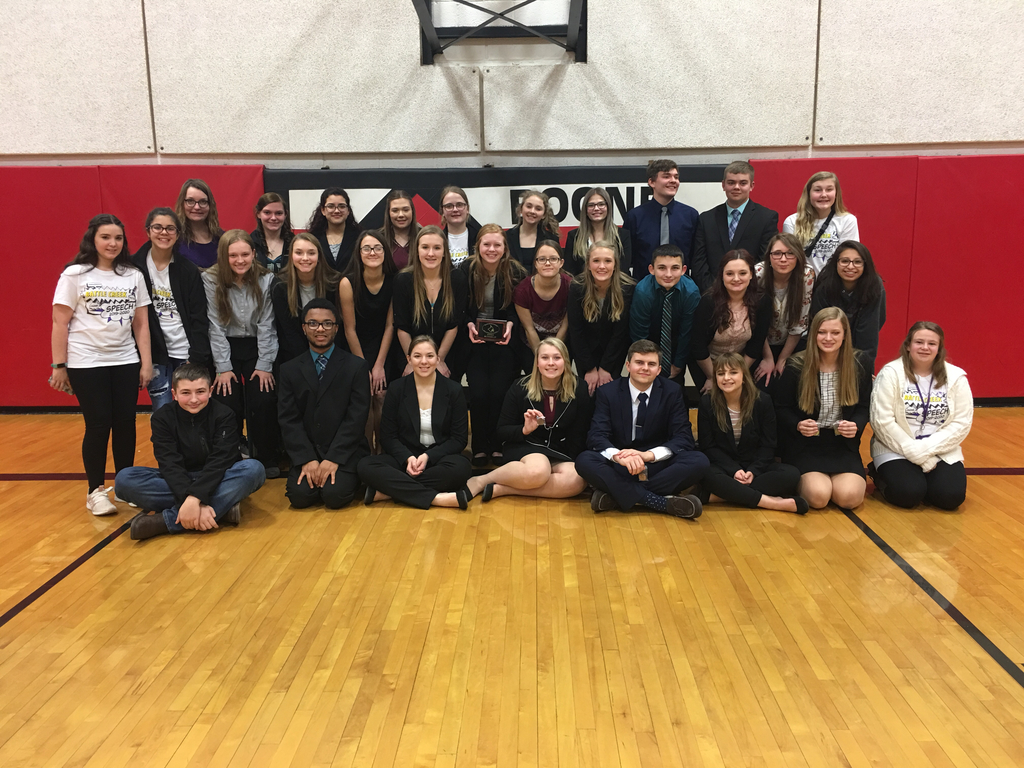 Speech Team at Boone Central (high school and junior high managers-not pictures Brennen Weidner)