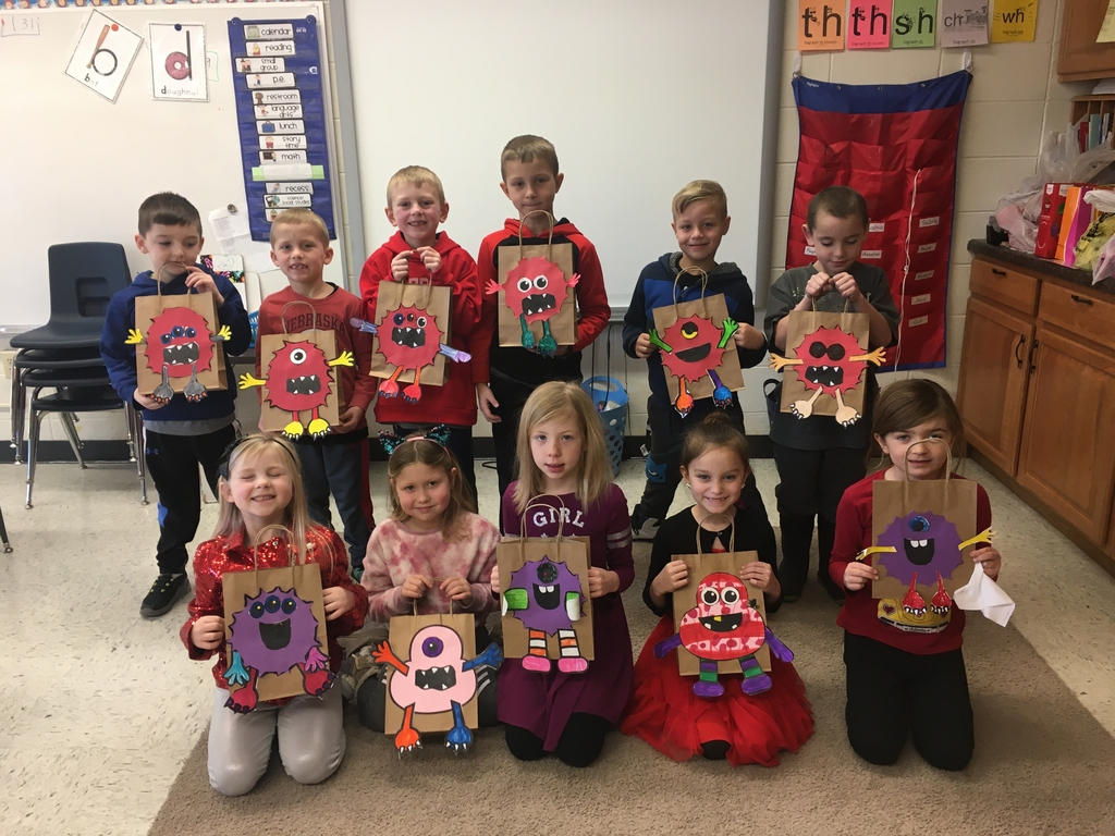 Happy Valentines Day from the 1st Grade monsters 😍💜