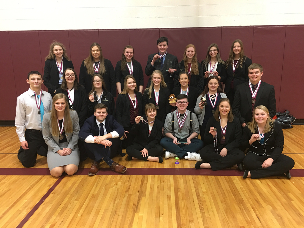 Speech medalists at Wakefield