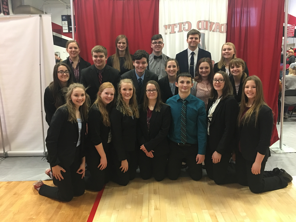 Competitors at the David City Speech Invite