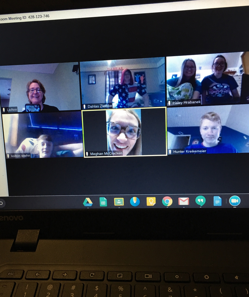 Zoom and video chats keep us connected...love it!
